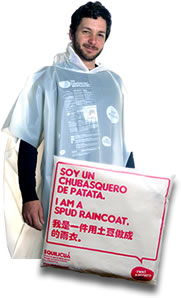 biodegradable emergency poncho
